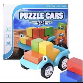 Smart Puzzle Car Games 60 Challenge With Solution IQ Training Toys For Kids Children Logical Thinking Family Game
