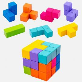 New Kids Wooden Toys 3D Puzzle Logic Game