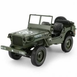 C606 1/10Scale RC Car 4Wd Racing Military Jeep Truck