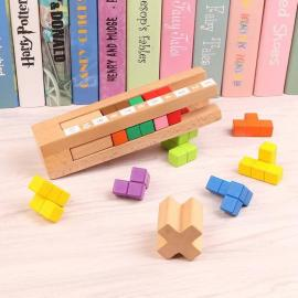 Building wood toys baby 3D wooden puzzle educational toys