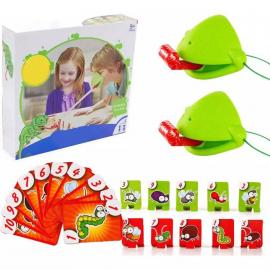 Frog Mouth Take Card Tongue Tic-Tac Chameleon Tongue Funny Board Game