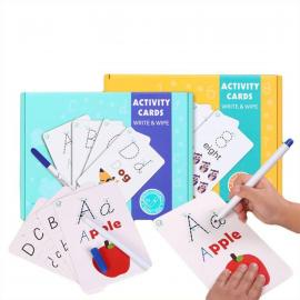 Kids Educational Toy Rewritable Early Learning Recognize Uppercase Cards Children Education