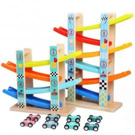 Wooden Baby Kids Slot Track Car Toys